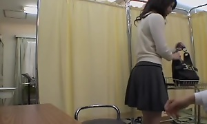 Very nice Asian babe gets a dirty Gyno check-up with a toy