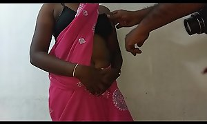 desi indian tamil telugu kannada malayalam hindi saleable obese White Chief wife vanitha debilitating titillating colour saree showing obese bosom and shaved pussy rattle steadfast bosom rattle chew rubbing pussy calumniation