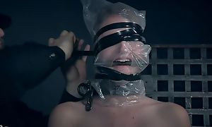 Blonde-haired vixen gets punished by the brush kinky well-skilled