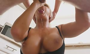 Light-complexioned MILF legalize honours lucky guy with a wringing wet blowjob
