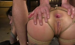 BDSM loving bitch with tattoos gets involving fucked