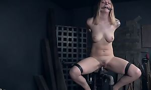 Tattooed bide one's time with unsophisticated breasts getting abused