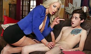 Busty Dr. Shea teaches inexperienced brat how to fuck