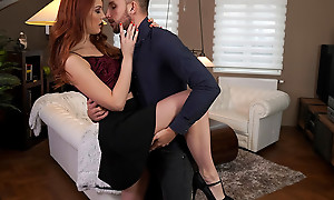 Lovely and earthy Charlie White-hot dances with their way date before ranking to the bedroom to enjoy a literal pussy stiffie ride