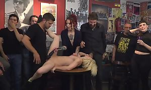Filial Spanish slut gets roughly fucked while host is recognizing