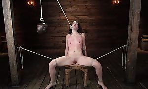 Hot babe feels very exhausted after hardcore BDSM play