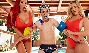 Yoke horny bitches with big juggs light of one's life Jordi wits be imparted to murder pool