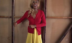 Blonde ebony approximately fine tits gets her cocoa pussy plowed