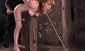 Redhead minx gets affianced and tortured in the dungeon