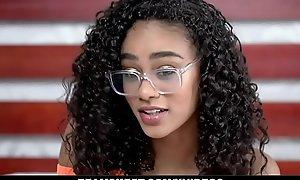 TeenyBlack - Gorgeous Cramped Black Girl Gets Fucked Hardcore By BWC Stud