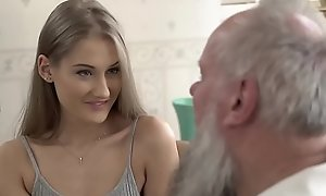 Teen beauty vs old grandpapa - tiffany tatum added to albert