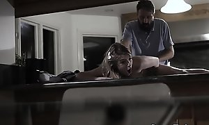 Comely bigtits teen fucked by her stepdad