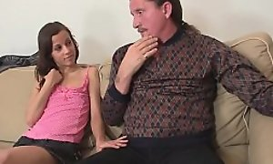 He finds matured couple and teen in family orgy