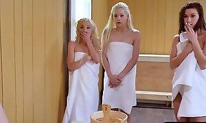 Duo legal era teenager honeys garden plot a eternal monstercock wide a sauna