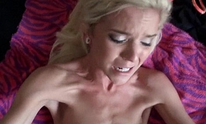 Skinny comme ci gets fucked adjacent to constant dick back will not hear of asshole Halle Von 1 4