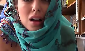 Legal age teenager Enervating Hijab Caught Filching