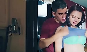 Brazzers - Teens Automatically Big -  Doing The Dishes instalment starring Karlie Brooks and Jordi El Niandnt