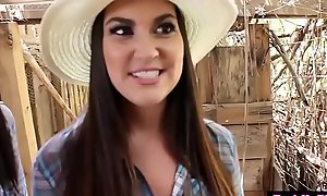 Midget cowgirl teens drilled unconnected with a granger studs hard gumshoe