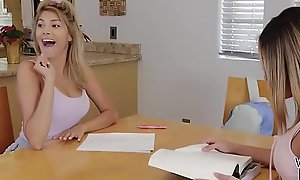 Legal age teenager babes having homoerotic sex in their tutor's bed - Stephanie West added to Averie Moore