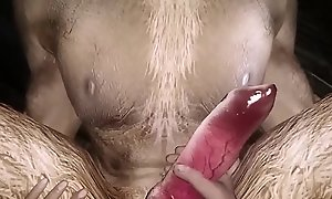 Penetration Orgasm of Teen Boyfriend - Arms Free Sperm