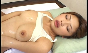 Horny dude plays with a hairy Japanese pussy