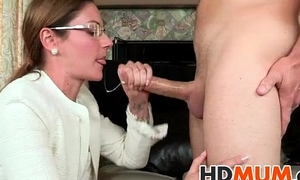 Mum makes my cock firm
