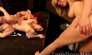 2 Beautiful university girls get pumped by 2 horny classmate