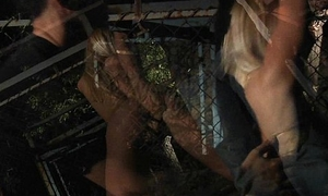 Blonde slavegirls assured pure from cage be advantageous to kinky delight satisfaction