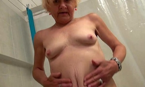 Granny and young girl enjoyment from together