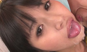 Kotomi teen asian gives blowjobs more a threesome