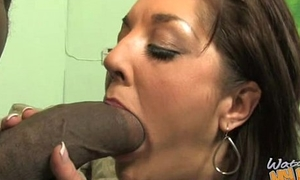 Marketable MILF fucks young black stud 27