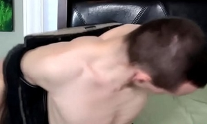 Tugging twink gets sucked