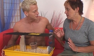 Hot expecting person bangs granny neighbour
