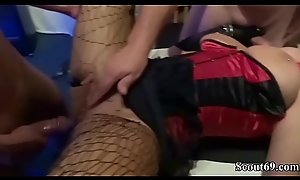 Two German MILF fuck with Young Teens on Birthday Corps