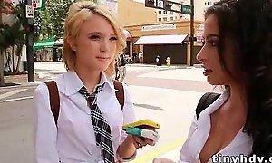Tiny undersized legal age teenagers 3way adriana lynn and dakota skye 8 91