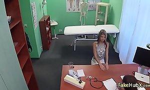 Sexy doctor banged teen mademoiselle