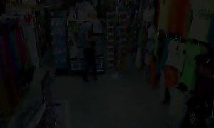 Jizzed teen shoplifter