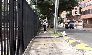 Oyeloca Second-rate latina  brunette legal lifetime teenager Carolina Santana condom sex