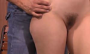 Sex-crazed bitch rubs her clit space fully possessions anally fucked