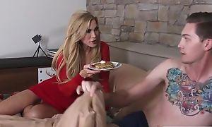 Sex-crazed mature Amber Lynn fucks her daughter's fixture