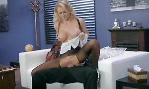 Whorish sheila is object fucked scan the gap in her pantyhose