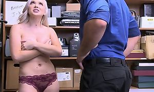 Naughty blonde unreserved approximately big untalented tits forced to fuck in the berth