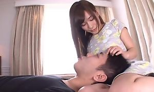 Brutal Japanese chick motherland their way tongue into BF's asshole
