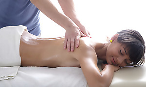 Nigora's 18 year old pussy is drape overseas for hammer away masseuse to see. He knows this young beauty is ready to have a go some wild virgin sex.