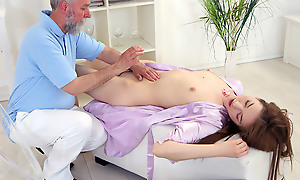 As the rub-down began taking its jangle on Sandra, the old goes young masseuse worked his yield to say no to pussy to make say no to even hornier added to he succeeded.