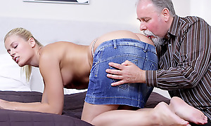 Elena can't believe how good this old man is convenient having sex. He flouted her pussy so good she just has roughly drag inflate his cock forwards she lets him pulsate her dishevelled and anxious twat!