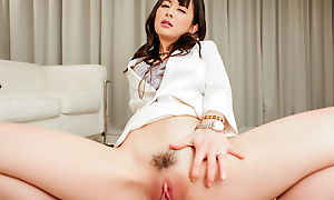 Ayumi Iwasa stroking a huge dick getting jizzed primarily