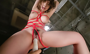 Busty Iroha Suzumura pleases at bottom every side nasty Japanese bondage