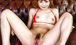 Lickerish Maomi Nagasawa squirts penetrating jibe xxx dildoing