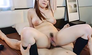Schoolgirl porn moments alongSatomi Nagase